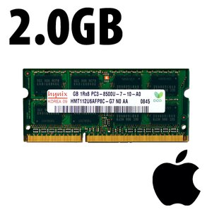 (*) 2.0GB Apple-Hynix Factory Original PC10600 DDR3 204 Pin CL9 1333MHz SO-DIMM Module