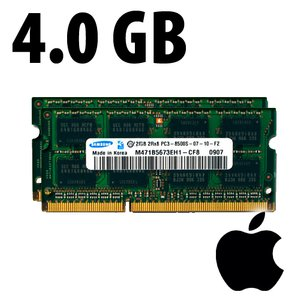 (*) 4.0GB (2x 2GB) Apple Factory Original PC10600 DDR3 204 Pin CL9 1333MHz SO-DIMM Kit