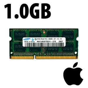 (*) 1.0GB Apple-Samsung Factory Original PC10600 DDR3 204 Pin CL9 1333MHz SO-DIMM Module *Used / Pul