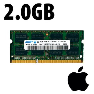 (*) 2.0GB Apple-Samsung Factory Original PC10600 DDR3 204 Pin CL9 1333MHz SO-DIMM Module.