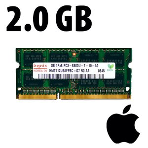 (*) 2.0GB Apple-Major Brand Factory Original PC6400 DDR2 200 Pin CL6 800MHz SO-DIMM Module.