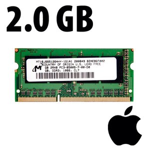 (*) 2.0GB Apple-Micron Factory Original PC8500 DDR3 204 Pin CL7 1066MHz SO-DIMM Module*Used / Pull*