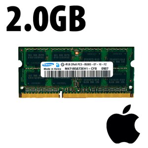 (*) 2.0GB Apple-Samsung Factory Original PC8500 DDR3 204 Pin CL7 1066MHz SO-DIMM Module