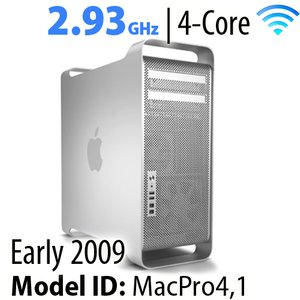 Apple Mac Pro (2009) 2.93GHz 4-Core: 16GB RAM, 3.0TB HDD, 480GB SSD, SuperDrive. Used.