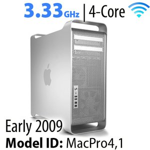 Apple Mac Pro (2009) 3.33GHz 4-Core: 16GB RAM, 3.0TB HDD, 240GB SSD, SuperDrive. Used.