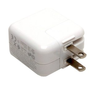 Apple Genuine 10W AC to USB Power Charger for Apple iPad. Also supports iPhone, iPod & other USB dev