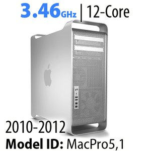 Apple Mac Pro (2010-12) 3.46GHz 12-Core: 32GB RAM, 3.0TB HDD, 480GB SSD, SuperDrive. Used.