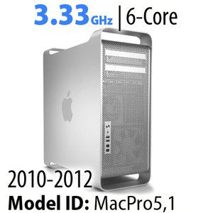 Apple Mac Pro (2010-12) 3.33GHz 6-Core: 32GB RAM, 1.0TB HDD, SuperDrive. Used.