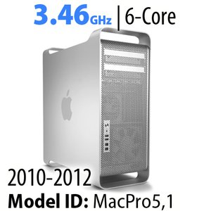 Apple Mac Pro (2010-12) 3.46GHz 6-Core: 32GB RAM, 2.0TB HDD, 480GB SSD, SuperDrive. Used.