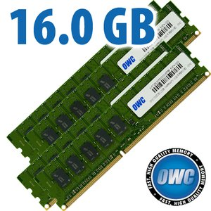 (*) 16GB (4x 4GB) DDR3 ECC PC10600 1333MH ECC Kit for Mac Pro 'Nehalem' & 'Westmere' models *USED*