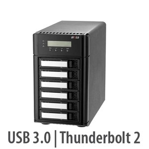 Areca ARC-5028T2 6-Bay 6Gb/s SAS Thunderbolt 2 RAID Storage Enclosure