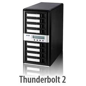 Areca ARC-8050T2 8-Bay Thunderbolt 20Gb/s SAS/SATA/SSD Drive RAID Storage Enclosure