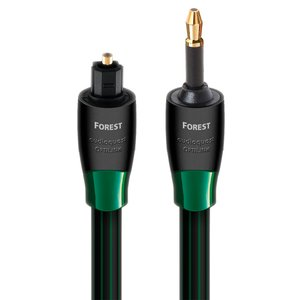"0.75 Meter (29"") AudioQuest Forest 3.5mm Audio to Toslink Optical Cable"