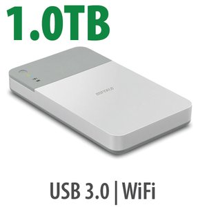 1.0TB Buffalo MiniStation Air 2 Portable Hard Drive.