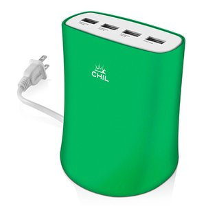 CHIL PowerShare Reactor 5.1 Amp Multi-Device Charger - Green