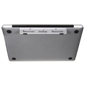 "Fins-Up The FIN for MacBook / MacBook Pro 13"" Unibody. All-in-one Carrying Handle & Cooling Stand."