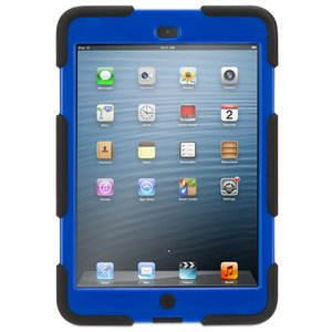 (*) Griffin Technology Survivor Military-Duty Case for iPad mini. Black/Blue Color.