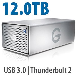 12.0TB G-Technology G-RAID Enterprise-Class with Thunderbolt 2.