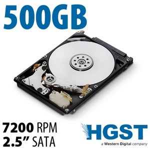 500GB HGST Travelstar Z7K500 2.5-inch 7mm SATA 3.0Gb/s 7200RPM Hard Drive with 32MB Cache