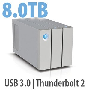 8.0TB LaCie 2big Thunderbolt 2 Series Dual Bay Desktop Hard Drive Solution