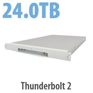24.0TB LaCie 8big Rack Thunderbolt 2 Series 8 Bay Rack-mounted Hard Drive Solution
