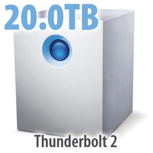 20.0TB LaCie 5big Thunderbolt 2 Professional Five Bay Desktop Hard Drive Solution