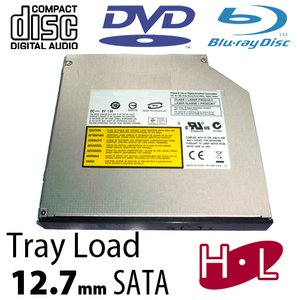 Hitachi-LG 6X Blu-ray Reader + Super-MultiDrive DVD/DVD DL/CDRW Read/Write - SATA Internal Tray