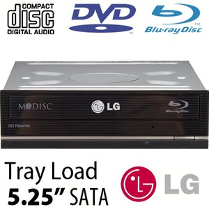 LG 14X Blu-ray Burner + Super-MultiDrive DVD/DVD DL/CDRW Read/Write - Serial-ATA Internal
