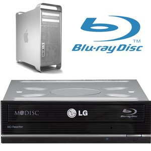 LG 14X Blu-ray Reader/Writer + DVDRW/CDRW- Internal Kit for Mac Pro + w/Software Bundle