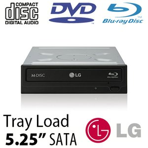 LG 16X Blu-ray Burner + Super-MultiDrive DVD/DVD DL/CDRW Read/Write - Serial-ATA Internal