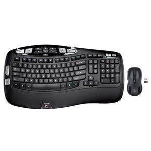 Logitech RF Wireless Wave Combo Mk550 With Keyboard & Laser Mouse