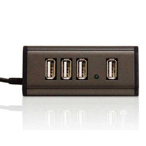 Macally TriHub - 4 Port Hi-Speed USB 2.0 Hub for Mac & PC