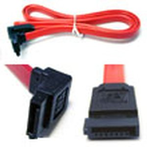 "1.0 Meter (39"") Micro Accessories SATA Internal 7 pin to 7 pin, left angle connector to straight con"
