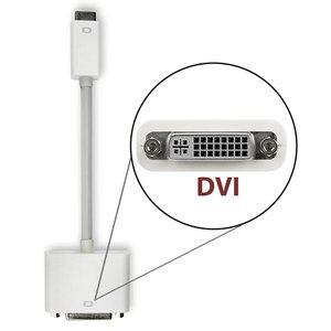 8-inch NewerTech Mini DisplayPort to DVI Video Adapter. Exceptional Quality. Matches Apple 'White'