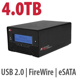 4.0TB NewerTech Guardian MAXimus mini Portable 5400RPM FW800&400 +USB2+eSATA Storage Solution