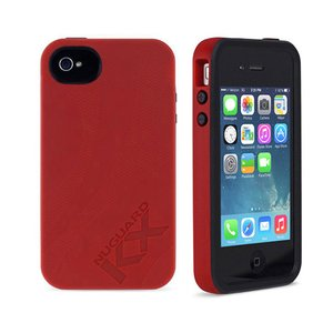NewerTech NuGuard KX. Color: Roulette Red. X-treme Protection for Your iPhone 4/4S