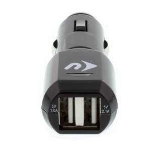 NewerTech USB Car / Auto Dual-Port Charger - for USB Powered Devices. High-Output, Fast! Black Color