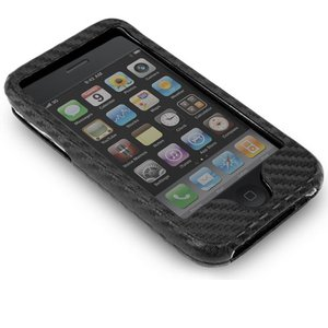 NewerTech NuCase: Carbon Fiber Style Protective Case for Apple iPhone 3G/3Gs, Silver Color