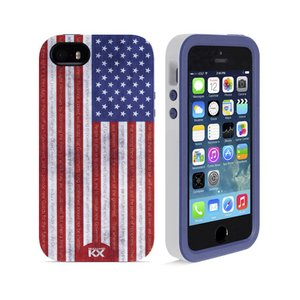 NewerTech NuGuard KX. Color: Stars & Stripes. X-treme Protection for Your iPhone 5/5S