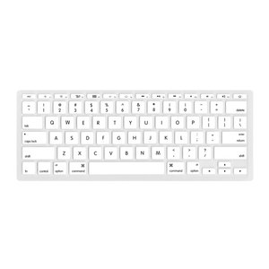 "NewerTech NuGuard Keyboard Cover for all 2011-15 MacBook Air 11"" models - White Color."