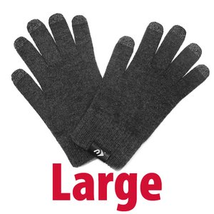 NewerTech NuTouch Gloves. Size: Large. Color: Charcoal.