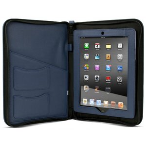 NewerTech iFolio - Premium Blue Leather Case-Holder/Folio for all iPads.