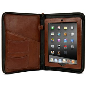 NewerTech iFolio - Premium Cognac Leather Case-Holder/Folio for all iPads.