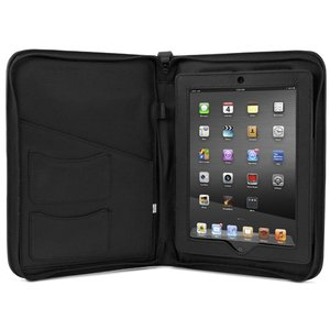 NewerTech iFolio - Premium Black Leather Case-Holder/Folio for all iPads.