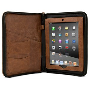 NewerTech iFolio - Premium Tan Leather Case-Holder/Folio for all iPads.