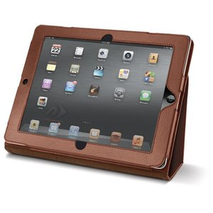 NewerTech The Pad Protector - Slim Leather Folio for Apple iPad 2, 3 & 4. Cognac Color