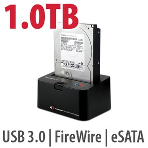 1.0TB Hard Drive & NewerTech Voyager Q Multi-Interface SATA Drive Docking Solution