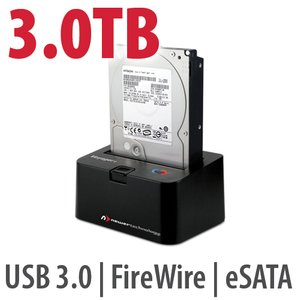 3.0TB 7200RPM HD & NewerTech Voyager Q Multi-Interface SATA Drive Docking Station Bundle