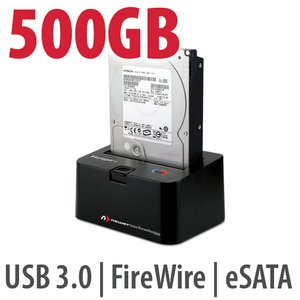 500GB Hard Drive & NewerTech Voyager Q Multi-Interface SATA Drive Docking Station Bundle