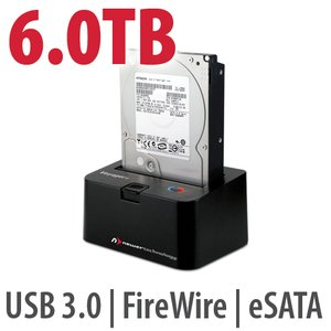 6.0TB 7200RPM HD & NewerTech Voyager Q Multi-Interface SATA Drive Docking Station Bundle